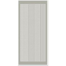 Sticker Adesivi, margini stretti, grigio-argento, dimensioni 10x23cm