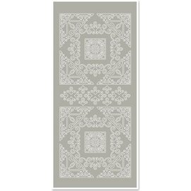 Sticker Adesivi, Grande angolo 1, grigio-argento, dimensioni 10x23cm
