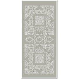 Sticker Stickers, Grote hoek 1, zilver-grijs, maat 10x23cm