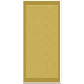Sticker Ziersticker, golvende lijnen, goud goud, maat 10x23cm.