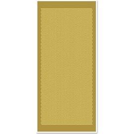 Sticker Ziersticker, lignes ondulées, d'or or, taille 10x23cm.