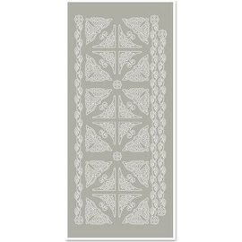 Sticker Stickers, corners and edges, silver-gray, size 10x23cm