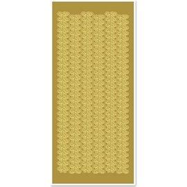 Sticker Autocollants, les bordures de dentelle, large, or-or, taille 10x23cm