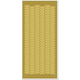 Sticker Stickers, lace borders, broad, gold-gold, size 10x23cm