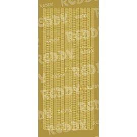 Sticker Stickers, grenzen, kleine cirkels, goud-goud, formaat 10x23cm