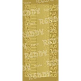 Sticker Stickers, edges and corners, small, gold-gold, size 10x23cm