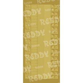 Sticker Stickers, randen en hoeken, kleine, goud-goud, formaat 10x23cm