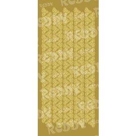 Sticker Stickers, driehoek randen, breed, goud-goud, formaat 10x23cm