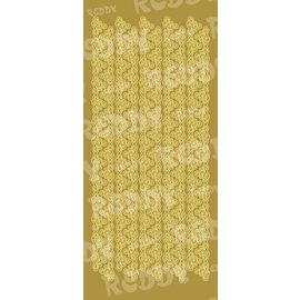 Sticker Stickers, triangle edges, broad, gold-gold, size 10x23cm