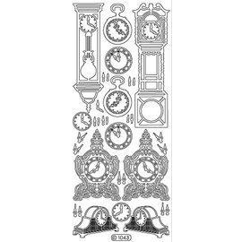 Sticker Ziersticker, klok, goud, 10x23cm