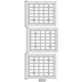 Sticker Decoratieve sticker, raam, overzicht, goud 10x23cm