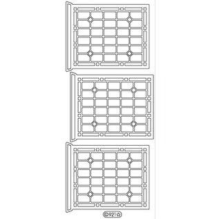 Sticker Ziersticker, Fenster, Outline, gold 10x23cm