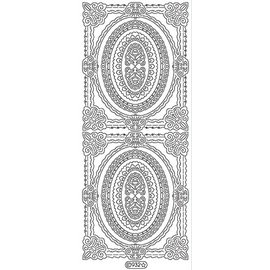 Sticker Ziersticker, contour de cadre, or, 10x23cm