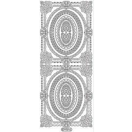 Sticker Ziersticker, Rahmen Outline, gold, 10x23cm