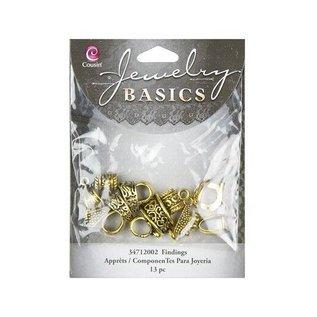 Embellishments / Verzierungen Bail Blandet Pack - Guld (13pcs)