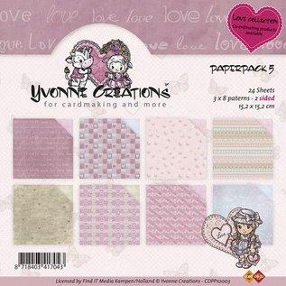 DESIGNER BLÖCKE / DESIGNER PAPER Yvonne Creations - Paperpack - Love