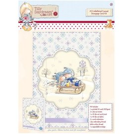 Komplett Sets / Kits A5 Embellished quadro Decoupage Cartão Kit - Tilly Daydream