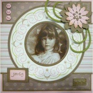 Nellie Snellen Fold skæring og prægning stencil, blomst form til