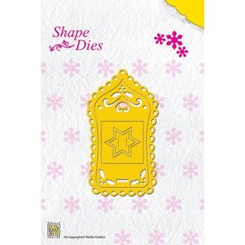 Nellie Snellen Shape Die Christmas Label