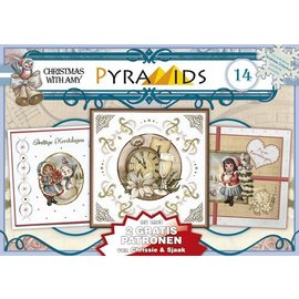 Bücher und CD / Magazines 1 A5 book 3D pyramid bow, Christmas motifs 8 DIN A5 sheets