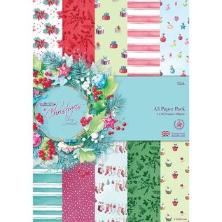 Docrafts / Papermania / Urban A5 Writing Pad, 32 Sheets, Christmas, Christmas At Lucy Cromwell