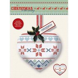 Komplett Sets / Kits Cross Stitch Heart Dekoration Kit - Christmas in the Country - Fair Er