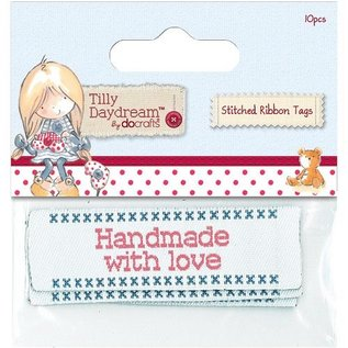 Embellishments / Verzierungen Papermania, etichette nastri cuciti (10) - Tilly Daydream
