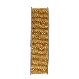 DEKOBAND / RIBBONS / RUBANS ... Ribbon, glitter satin, guld, 3 meter.