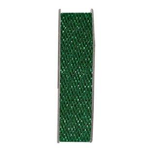 DEKOBAND / RIBBONS / RUBANS ... Papermania, Ribbon, Satin Glitter, grøn, 3 meter.