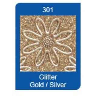 Sticker Glitter Sticker: Glitter silber/gold
