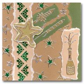 Sticker Glitter Stickers: Glitter sølv / guld