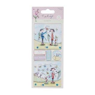 Embellishments / Verzierungen Detaillierte handgemacht Elemente Sticker aus der Tulip-Bereich. 230gr.