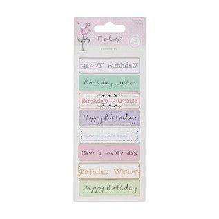 Embellishments / Verzierungen Detaljerede håndlavede stickers elementer fra Tulip rækkevidde. 230gr.