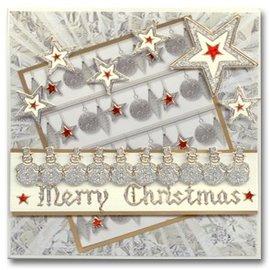 Sticker Glitter Sticker: Glitter silber/gold niedliche Schneemänner