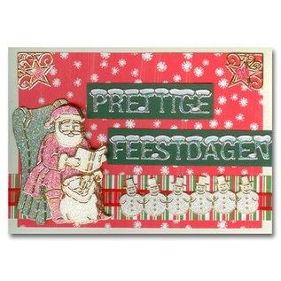 Sticker Glitter Sticker: niedliche Schneemänner in silber/gold