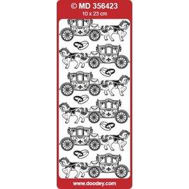 Sticker Decoratieve stickers voor bruiloft, kleur zilver / zilver