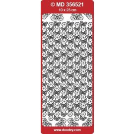 """Sticker Ziersticker, """"sommerfugler"""", sølv / sølv,"""