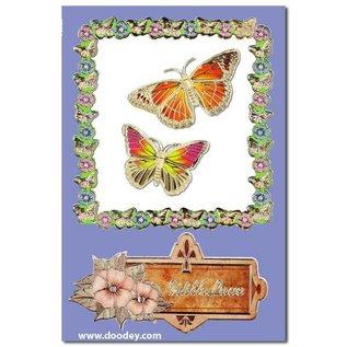 """Sticker Ziersticker, """"Schmetterlinge"""", silber/silber,"""
