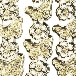 "Sticker Ziersticker, ""Schmetterlinge"", transp./silber,"