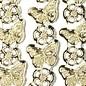 "Sticker Ziersticker, ""Schmetterlinge"", transp./gold,"