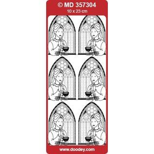 "Sticker Ziersticker, ""Communion / bekræftelse, pige,"" Transp. / Guld"