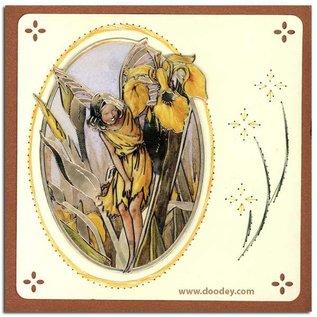"Sticker Ziersticker, ""Flower Angel"", transp. / Goud"