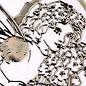 """Sticker Ziersticker, """"Blumen-Engel"""", transp./gold"""