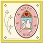 Sticker 1 Ziersticker Lovebirds gold
