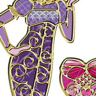 """Sticker Ziersticker Set """"Mode"""", goud"""