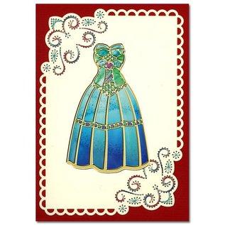 """Sticker 50% korting op de fancy dress-set """"Fashion"""", goud"""