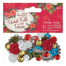 Embellishments / Verzierungen VintageCharms Set avec 32 parties