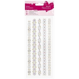 Sticker strass autocollants, bandes colorées