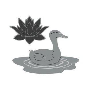 Joy!Crafts / Jeanine´s Art, Hobby Solutions Dies /  Modèle de poinçonnage: Canard et nénuphar