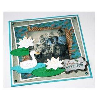Joy!Crafts / Jeanine´s Art, Hobby Solutions Dies /  Stanzschablone: Ente und Seerose